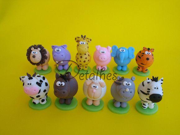 animais  porcelana fria polymer clay