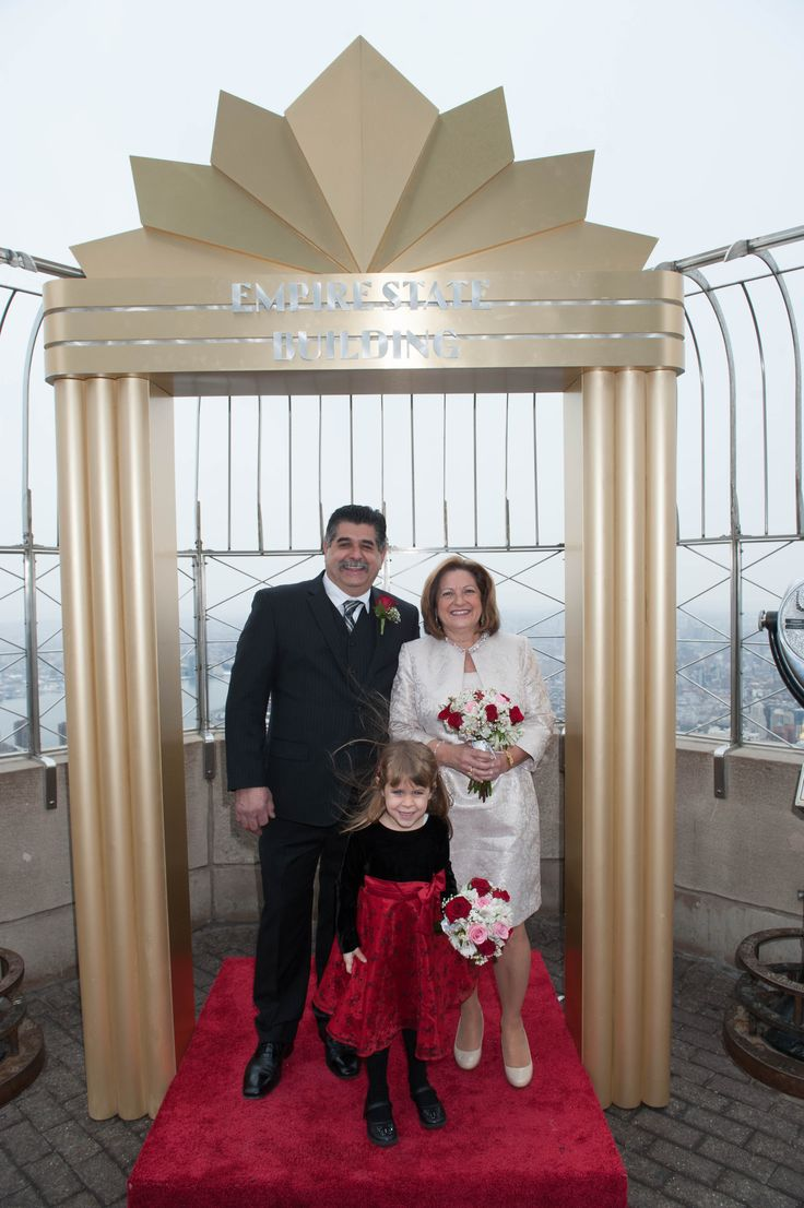 wedding ceremony new york city%0A Nearly     couples married or renewed their vows on our floor Observatory   with New York City as the background
