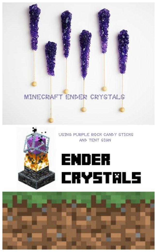 Ender Crystals, Minecraft Enderman, Minecraft, Minecraft Party, Minecraft Birthday, Minecraft Enderman Birthday, Minecraft Enderman Party, Minecraft Enderman Decoration, Minecraft Enderman Pinata