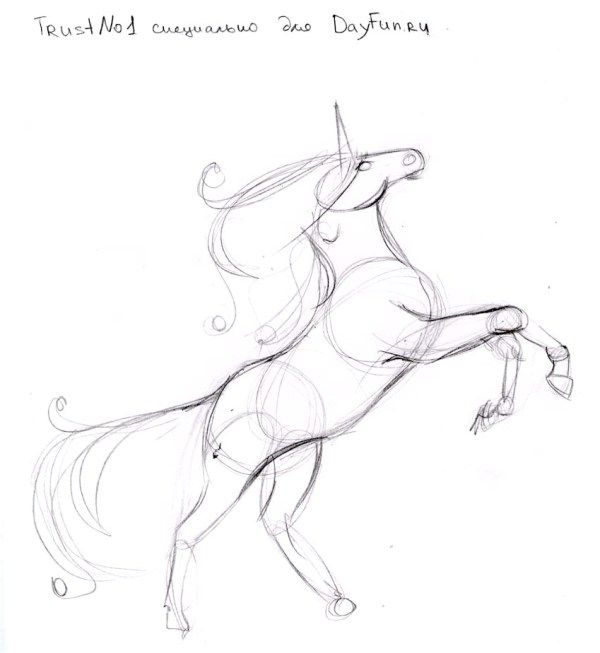 How to draw a unicorn step by step 3