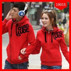 Jaket Couple Qing Luoc Red & Black Terlaris