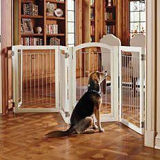Dog gates - Freestanding Pet Gates - Wooden Dog Gates - Frontgate