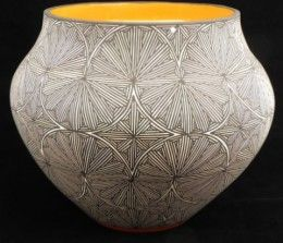 L Bryant Acoma Pottery: Art Stuff, American Pottery, Pottery Ceramics Glass, Pattern, Acoma Pottery, Pottery Village, Qi Ceramics Pottery, Ceramic Art, Amazing Pottery