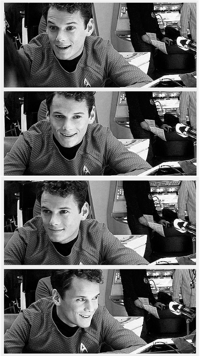 Anton Yelchin I love me some Chekov!