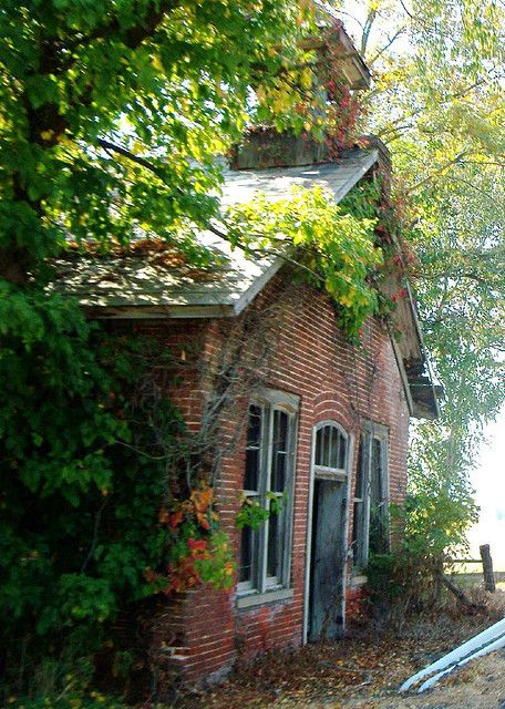 Brick schoolhouse on State Route 37 outside of Junction City, Ohio. There used to be a one-room ...