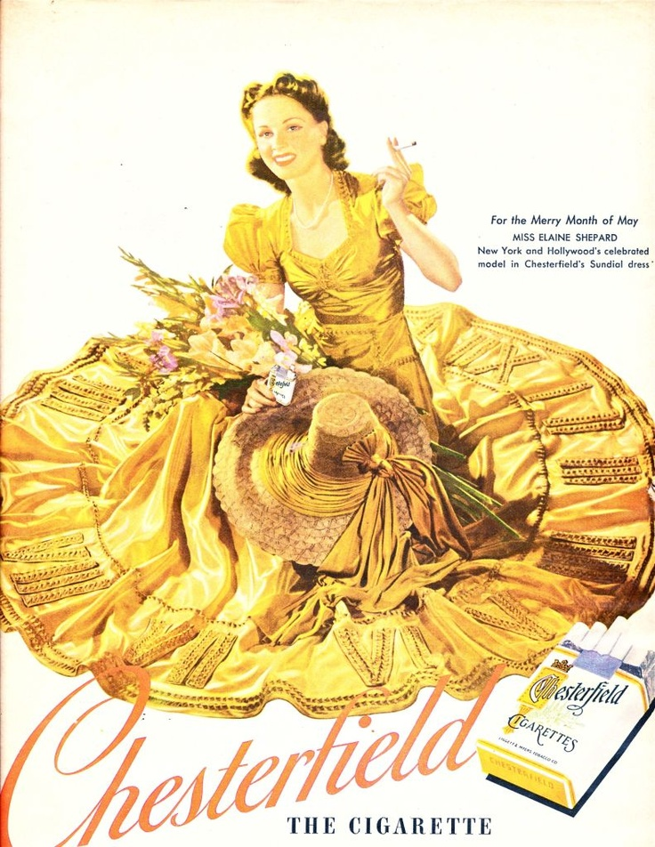 Chesterfields Sundial Dress - 1940  With Miss May - the charming Elaine Shepard.