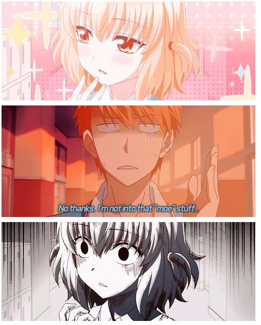 Not into moe, evil! #d-frag #anime