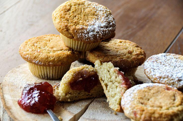 Muffins με μαρμελάδα