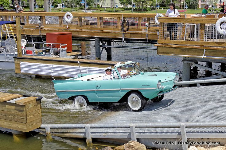 Amphicar Tours at The Boathouse in Disney World's Disney Springs (and Reservations Now Available!)