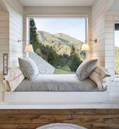Window Seat with a view, a cozy spot perfect for napping and/or reading a book
