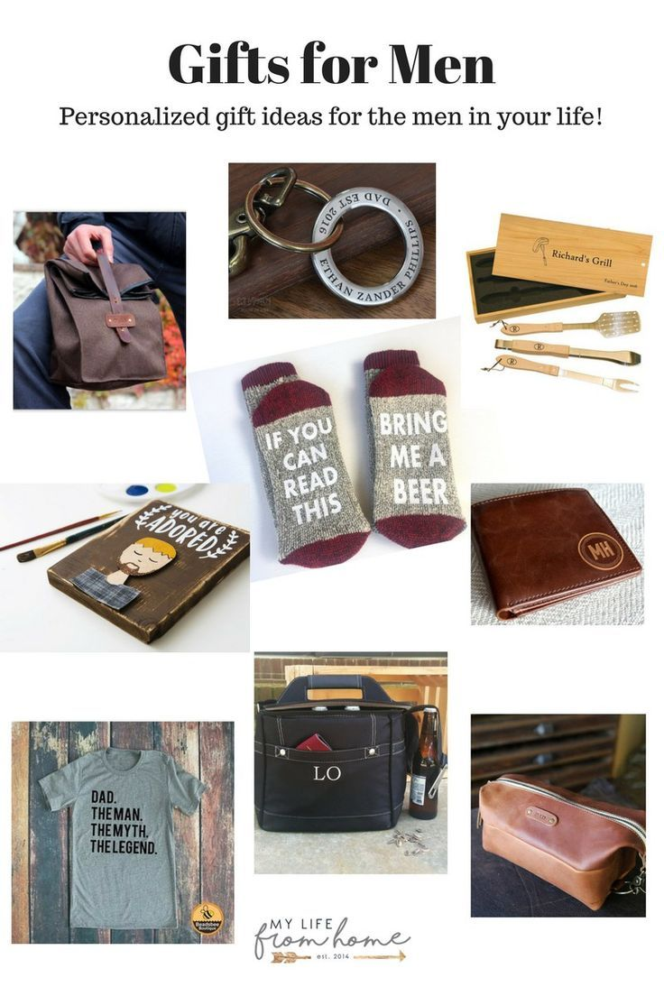 Personalized Gifts for Men | My Life From Home