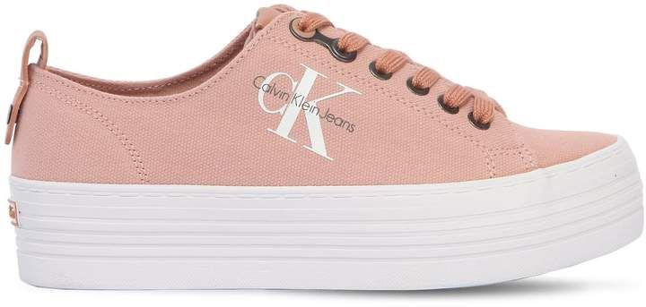 40mm Zolah Canvas Platform Sneakers by