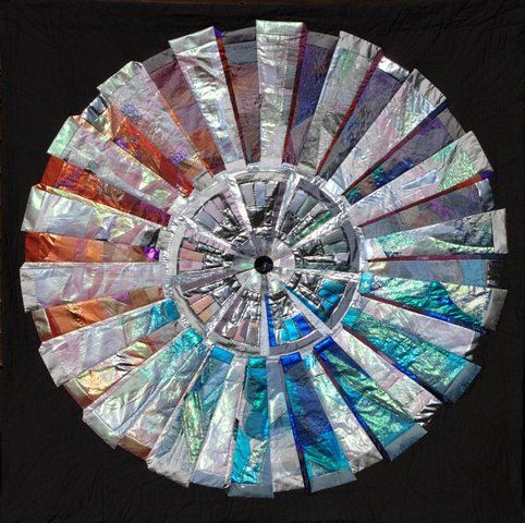 Quilt inspired by the Large Hadron Collider at CERN in Geneva. Art+Science!
