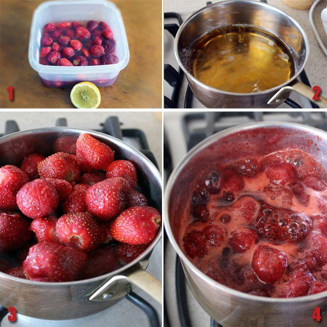 preparare gem de capsuni fara zahar