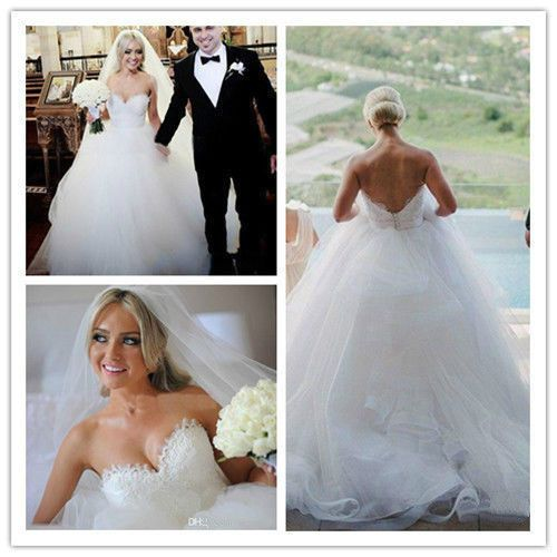 2015 Ball Gown Tulle Wedding Dress Bridal Custom Size 4 6 8 10 12 14 16 18