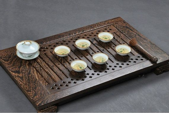 wenge tea tray displaying and serveing tea tea by Chinateaware