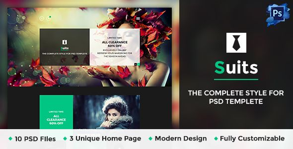 Suits - Business Portfolio Psd Template PSD Templates / Corporate / Business by kamleshyadav