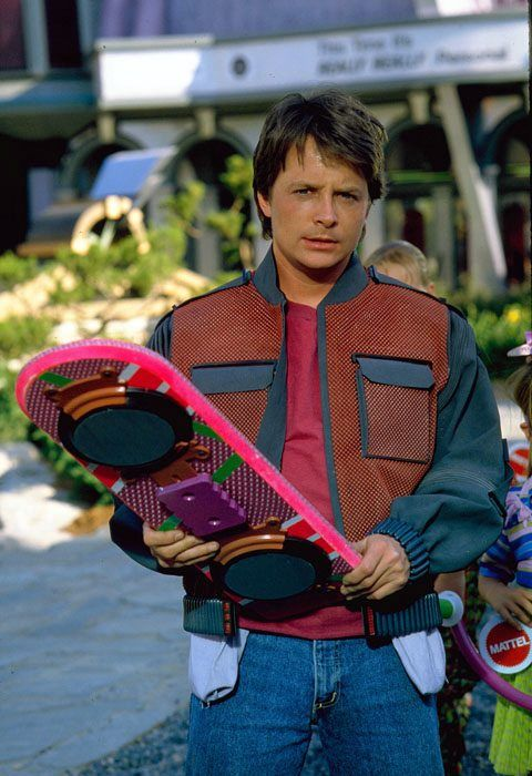 "Michael J. Fox as Marty McFly in ""Back to the Future II"""