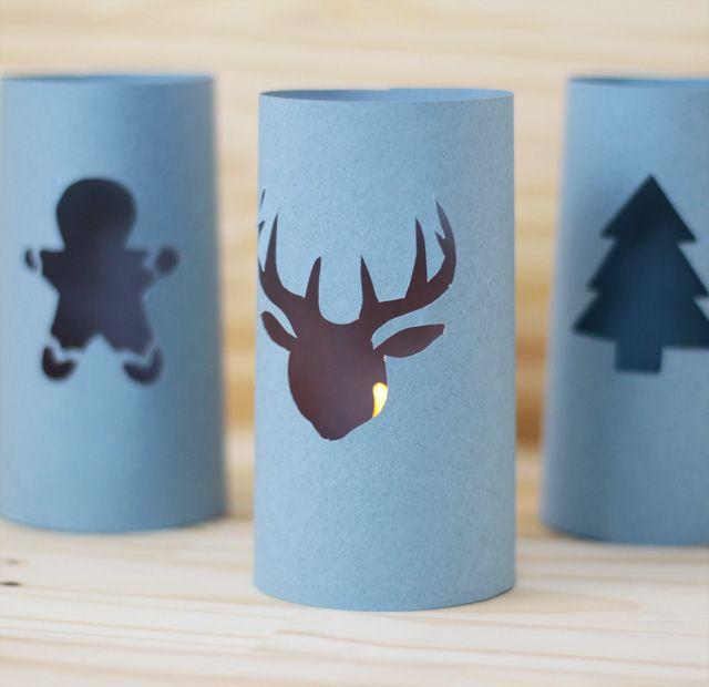 Les trois veilleuses papier de Noël