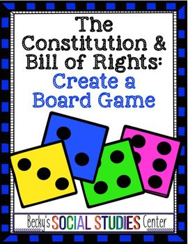 Create a Board Game of the Constitution and Bill of Rights Group Project - This is a great history, civics, Government, or US History activity for your 5th, 6th, 7th, or 8th grade classroom or homeschool students. Students will show off what they learned through this fun project that requires cooperative learning. Click through to see all the learning that will take place! {fifth, sixth, seventh, eighth graders, upper elementary, middle school, United States History, U.S. History}