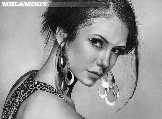 Olga melamory larionova is a talented russian artist who uses a simple pencil to draw incredibly realistic portraits that look like black and white