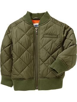Quilted Bomber Jackets for Baby. Avail @ Barton Creek