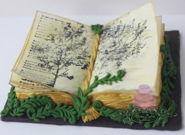 Poetry book birthday cake by Sonia Huebert   Book cakes, Food artists, Book themed party