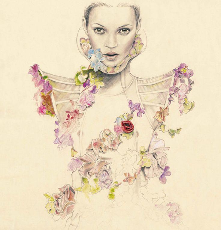 Kate Moss - Fashion Illustration
