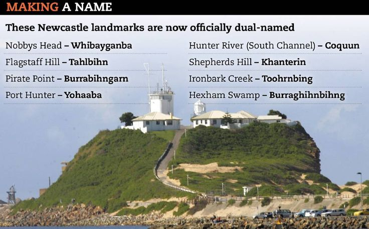 AWAKENED: The list of Aboriginal names that will now be used for eight of Newcastle's best known landmarks, including Nobbys Head, a sacred Awabakal site. They were found by sifting through historic documents.