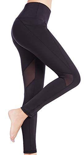 b090be31c531cb SEYO Sport Leggings Damen Yogahose Leggins Hoher Bund Sporthose Blickdicht  Leggings 3/4 und Lang