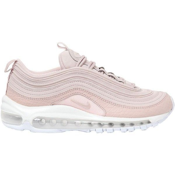 Nike Women Air Max 97 Premium Sneakers ($250) ❤ liked on Polyvore featuring shoes, sneakers, pink, pink sneakers, lightweight shoes, pink shoes, lightweight sneakers and nike shoes