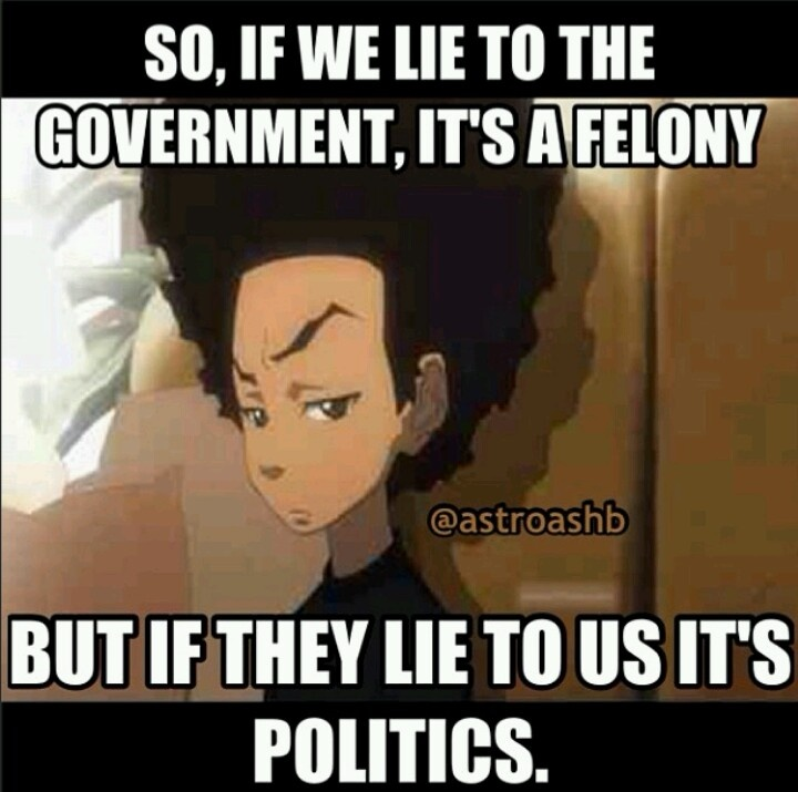 Boondocks government lies