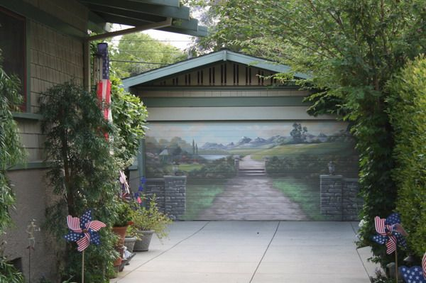 1000 Images About Art Painted Garage Doors On Pinterest