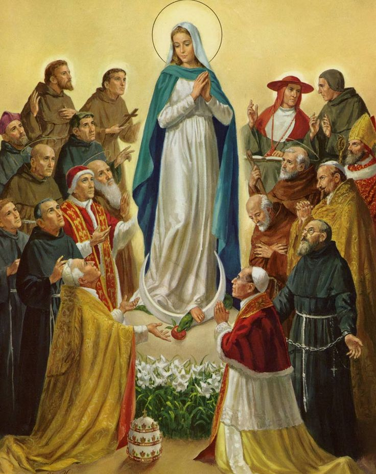 The picture above shows some of the Franciscan saints that either had a special devotion to Mary and her Immaculate Conception and/or were instrumental in the teaching and understanding of this special doctrine of the faith.