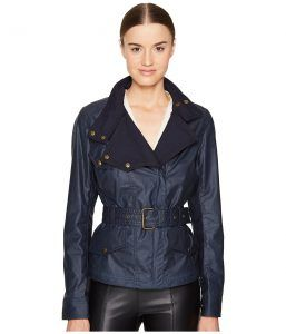 BELSTAFF Bemptom Signature 6 oz. Wax Cotton Jacket (Dark Teal) Women's Coat