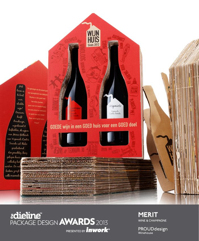 Built with layers of recycled carton from old wine boxes