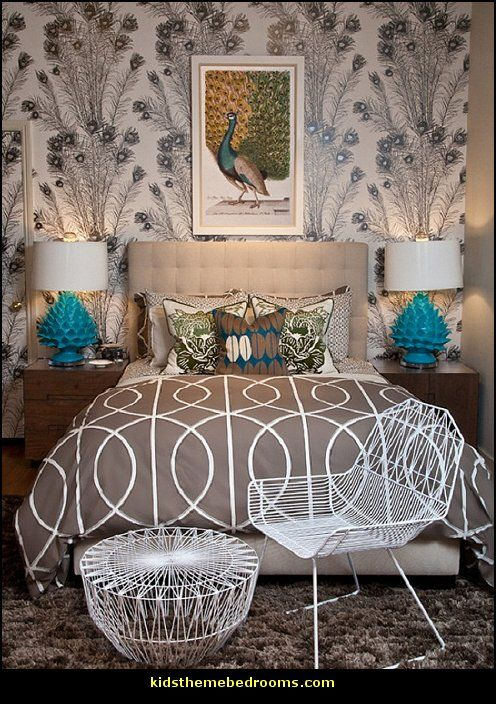 peacock themed bedroom for more decorating ideas and decor also