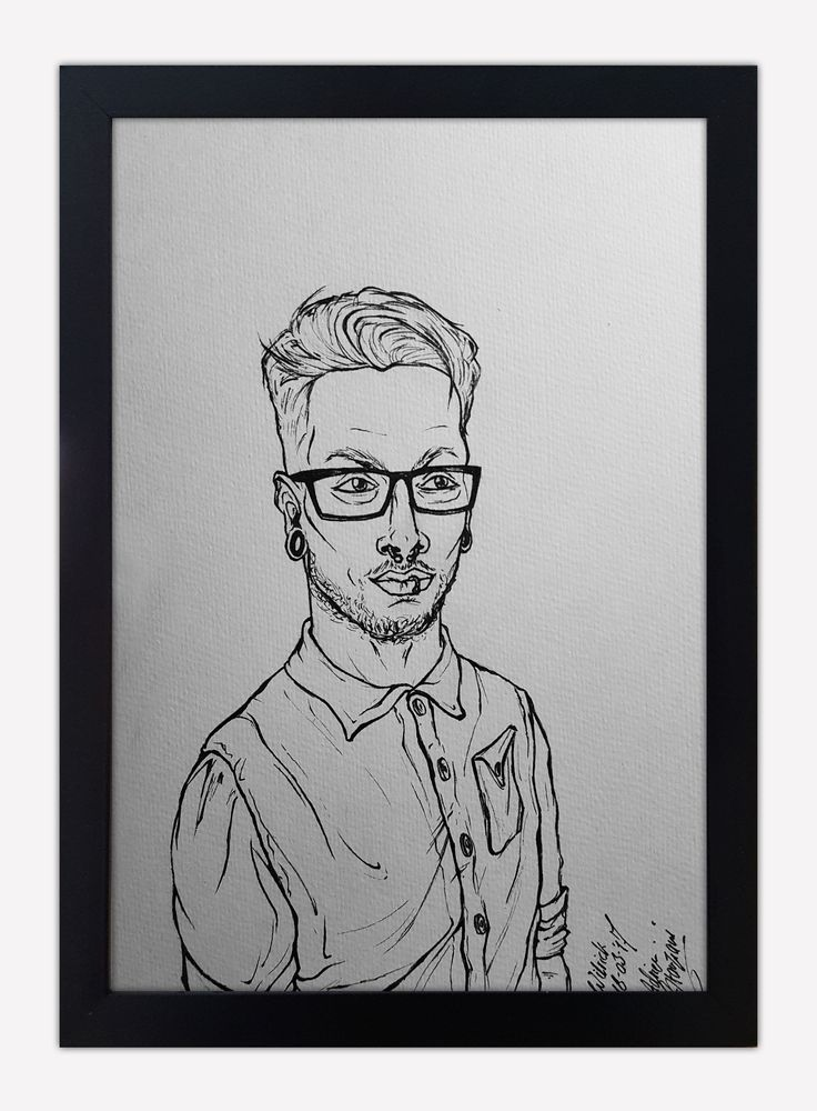 Portret, Wilrick de Barbanson (Odd Minds) Ink on paper ~ 21 x 28 cm [23-04-2017]