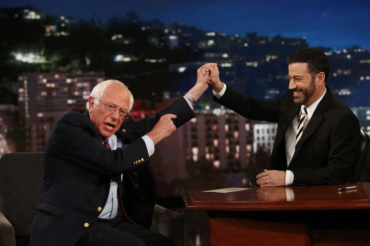 Bernie Sanders Takes 'Jimmy Kimmel Live' Victory Lap After Donald Trump Takes Debate Bait