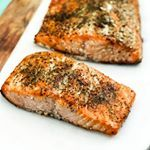 I have to say this is a perfect weekend for smoking a huge side of salmon My husbands is the absolute best  Grab the recipe through the link in my profile salmon smoker fish pescetarian healthy fitspo  foodblogeats foodie yum huffposttaste buzzfeedfood dayfix paleo forkyeah