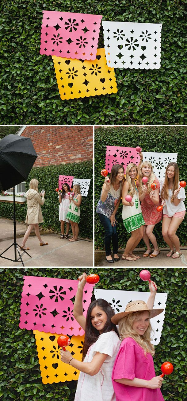 DIY Jumbo Papel Picado for a Cinco de Mayo fiesta   photo by Melanie Grizzel for Camille Styles