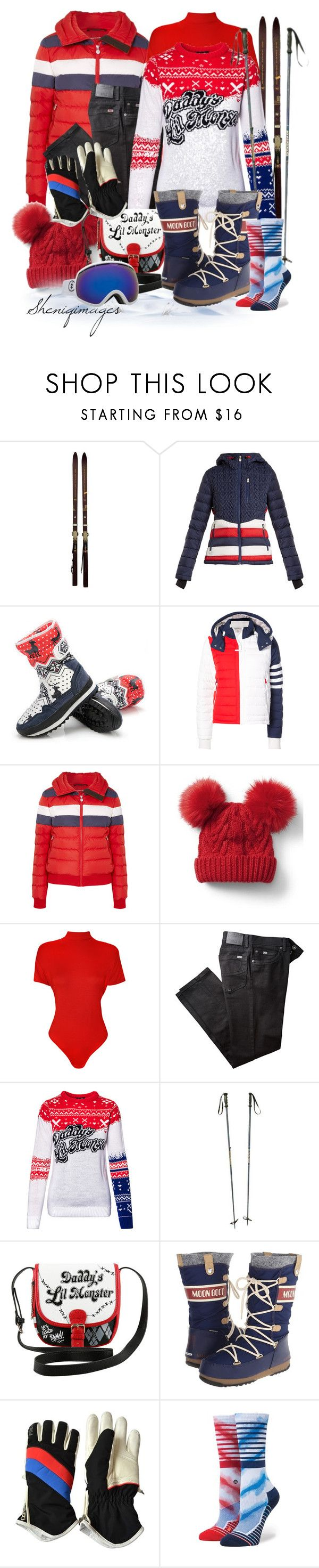 """""""Ski Vacay by Sheniq"""" by sheniq ❤ liked on Polyvore featuring Rossignol, Perfect Moment, Thom Browne, Gap, WearAll, BRAX, DC Comics, Tecnica, Bogner and Stance"""