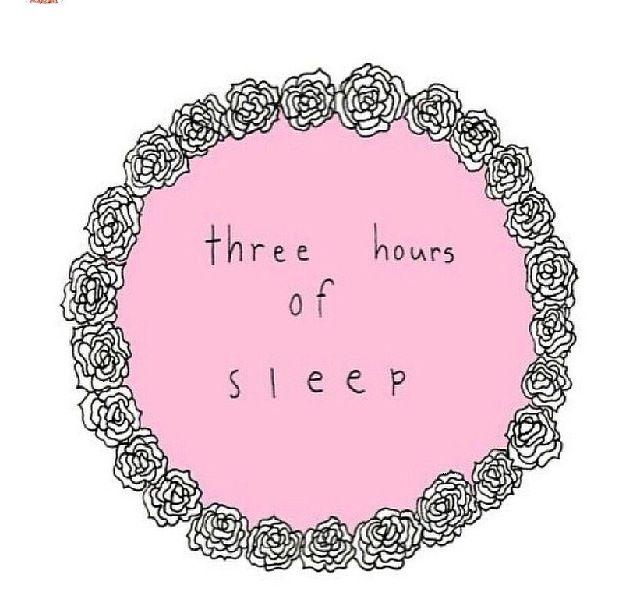 three hours of sleep. | tumblr transparents.
