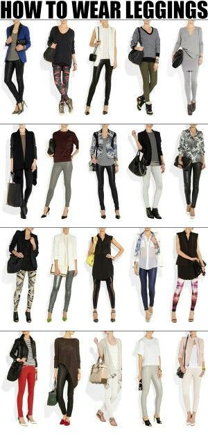 Cute legging outfit combos: