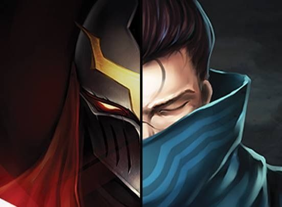Zed Yasuo Face By Walker183deviantart On DeviantArt