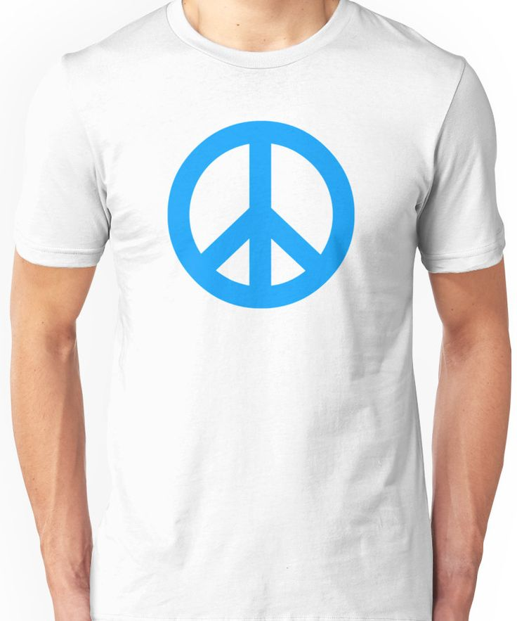 Blue Peace Sign Symbol Unisex T-Shirt