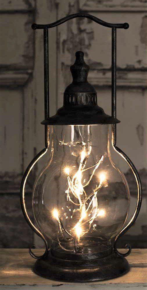 Rustic Luxe Angel Tears Steeple Lantern