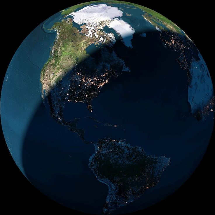 Earth View - day and night in real time from space | The exact view is 147354066 km above 28°10'N 70°42'W