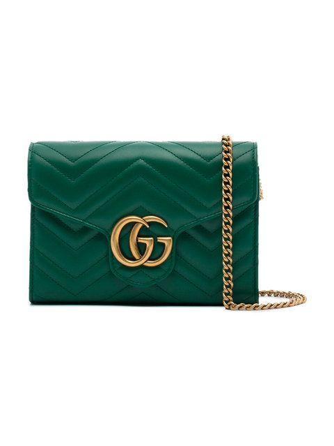10dbfde19b4d Gucci small green GG Marmont matelassé shoulder bag