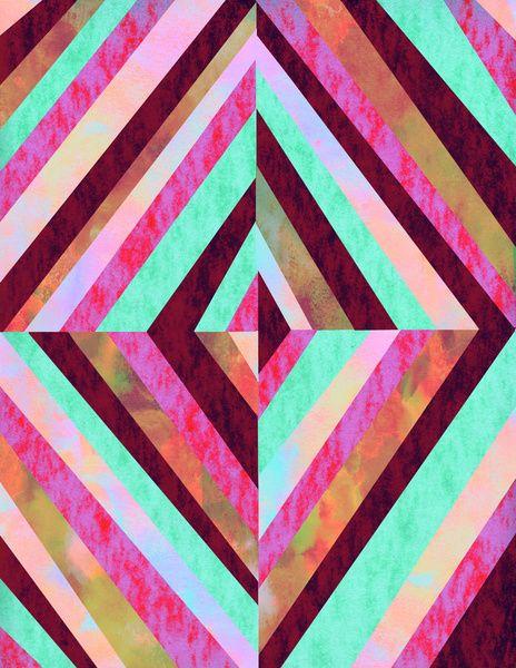 PATTERN {Diamond 001} Art Print by Schatzi Brown